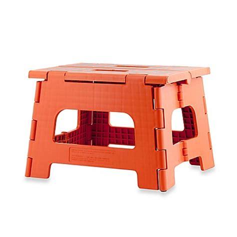 rhino ii folding step stool white buy kikkerland 174 design rhino ii folding step stool in