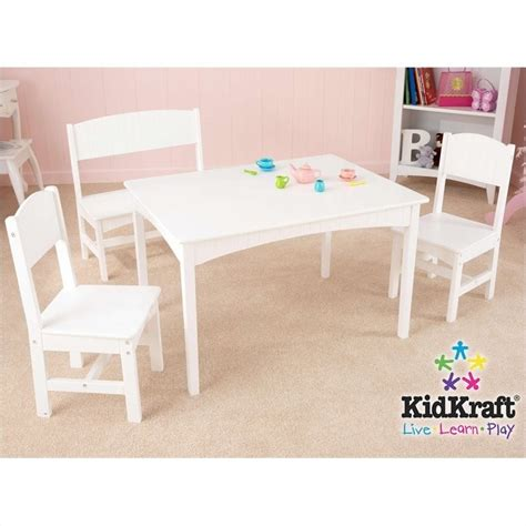 kidkraft bench table set kidkraft nantucket table with bench and 2 chair set 26110