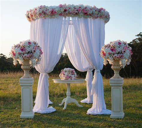 outdoor wedding ceremony decorations sydney wedding canopy hire wedding decorations by naz