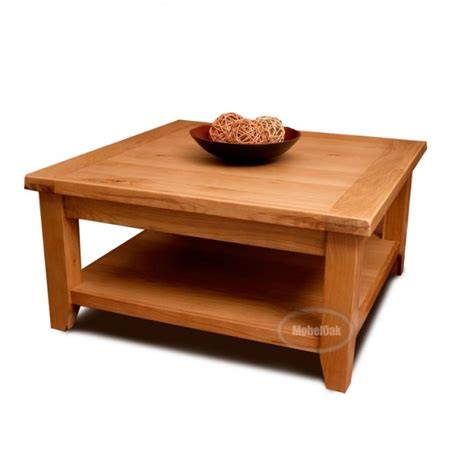 Coffee Table Large Square Vancoouver Rustic Oak Large Square Coffee Table Best Price Guarantee