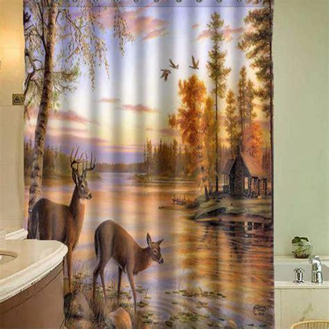 deer shower curtains and accessories 150x180cm polyester fiber waterproof deer shower curtain
