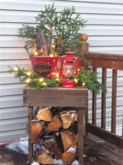 primitive porch decor porch ideas pinterest primitive country porch christmas decor primitive things