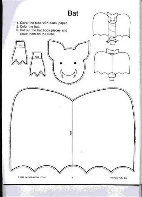 bat pattern for kindergarten crafts actvities and worksheets for preschool toddler and
