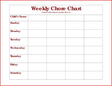 chore list template for adults free printable weekly chore charts 9 best images of chore