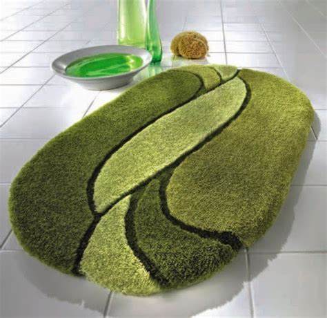 Green Bathroom Rugs by The Extraordinary Modern Green Bath Rugs Photo
