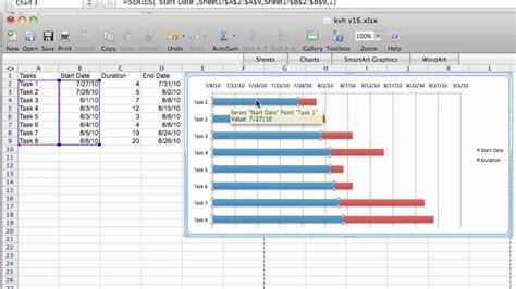 gantt chart tutorial excel  mac youtube