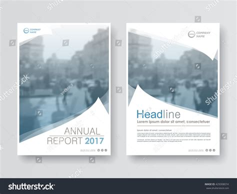Front Cover Of Book Report by Annual Report Flyer Presentation Brochure Front Stock Vector 429308074