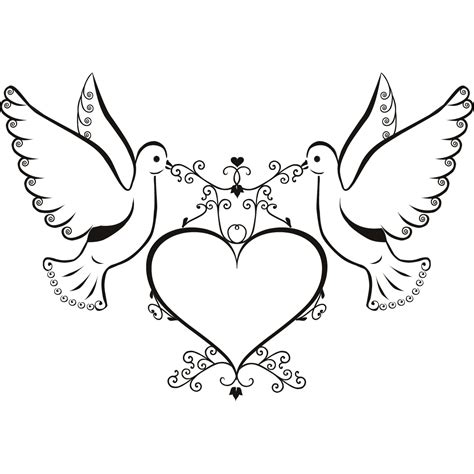 doves and hearts clipart 32