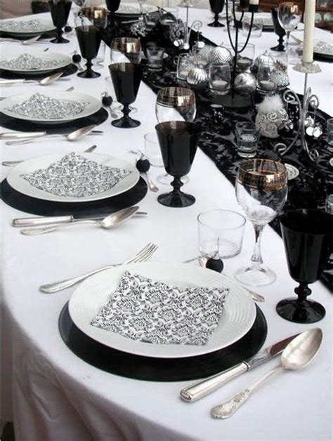 White Table Settings 52 Black And White Wedding Table Settings Weddingomania