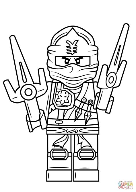 ninjago coloring pages of jay lego ninjago jay zx coloring page free printable