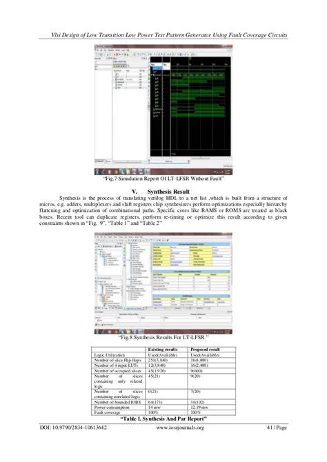 test pattern in vlsi vlsi design of low transition low power test pattern