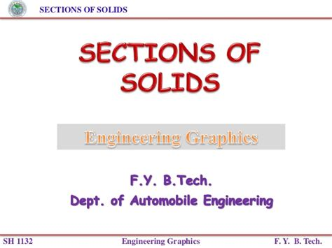sections  solids