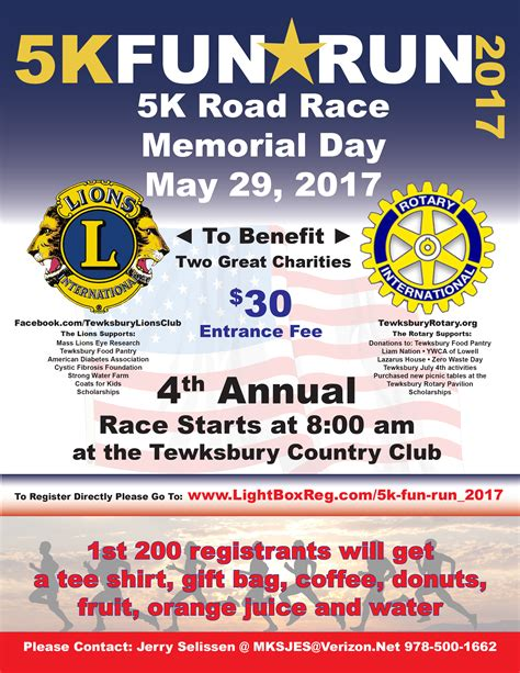To 5k Day 1 by 5k Road Race Fundraiser Tewksbury Ma Lions Club