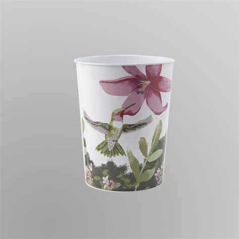 hummingbird bathroom accessories essential home hummingbirds wastebasket shop your way