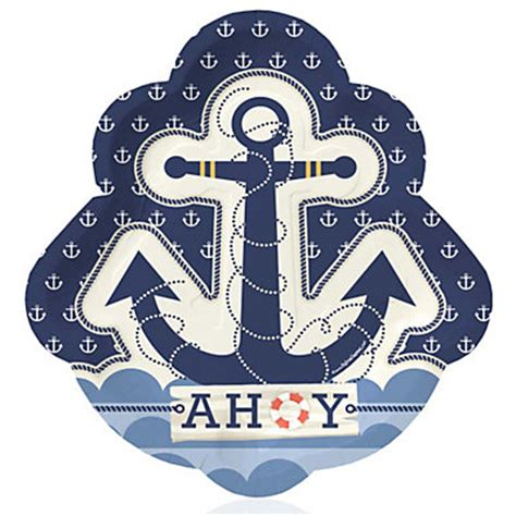 dinner on a boat ct ahoy nautical baby shower dinner plates 8 ct