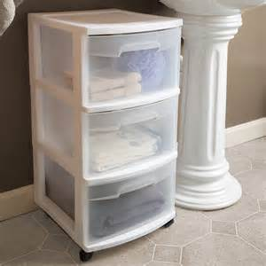 sterilite 3 drawer cart set of 2 storage organizer