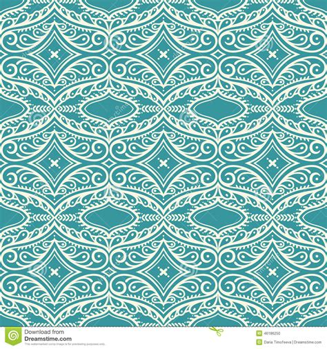 seamless pattern pale gray turquoise curls turquoise pattern with petals and swirls stock vector