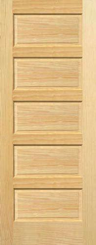 5 Panel Interior Wood Door Pine Horizontal 5 Panel Wood Interior Doors Homestead Doors