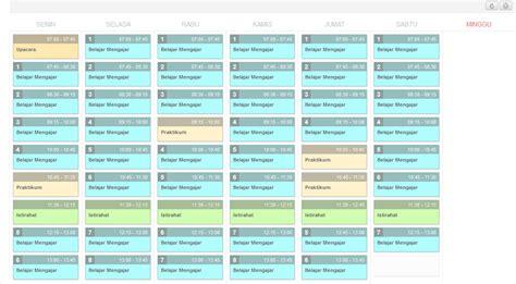 membuat tabel jadwal html cara membuat model jadwal pelajaran kelas baru di padamu