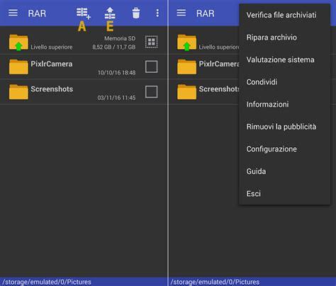 winrar android rar per android guida all installazione tutorial risorse e notizie per webmaster e webdesigner