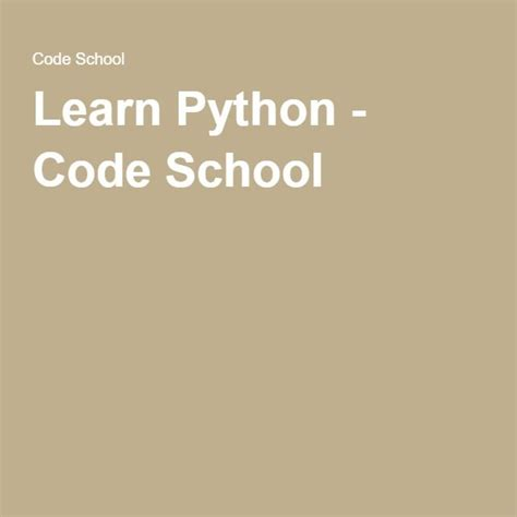 python tutorial codeschool 17 best images about e learning coding on pinterest