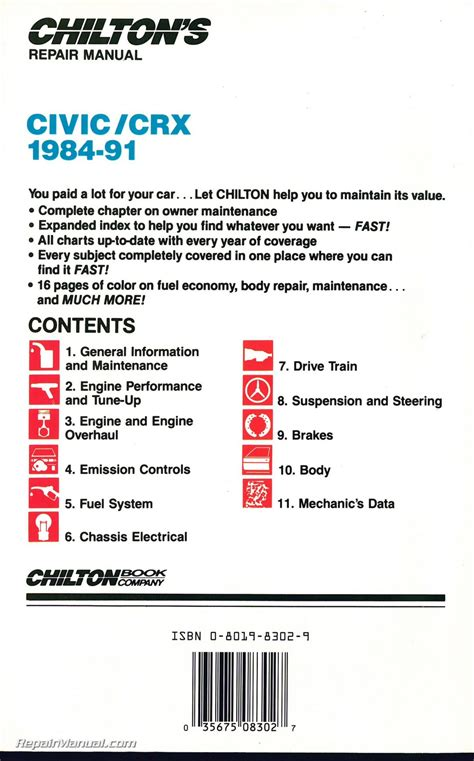 1984 honda civic repair manual