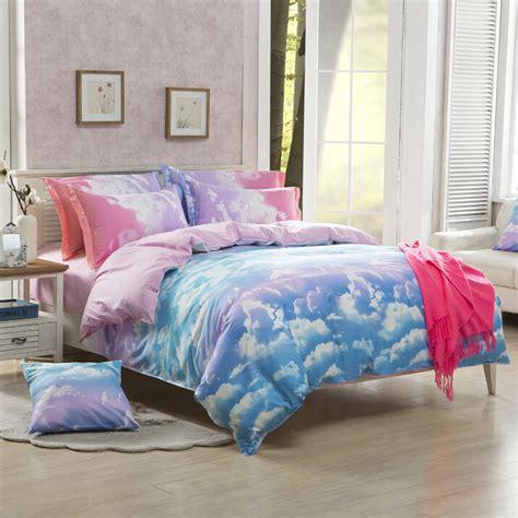 kawaii bed set cute harajuku galaxy sheet bedding bed 4 pieces 183 fashion