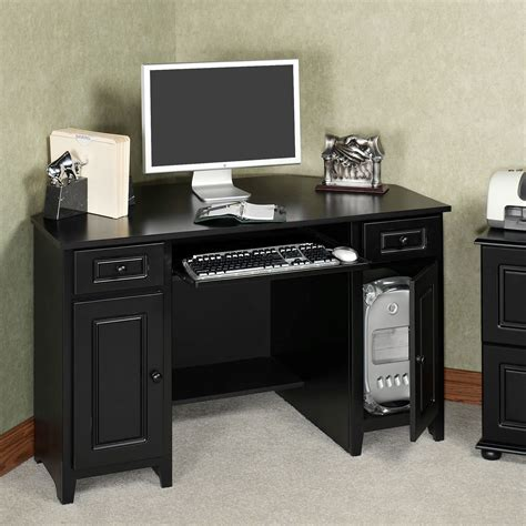 Auston Black Corner Desk Corner Desk Black