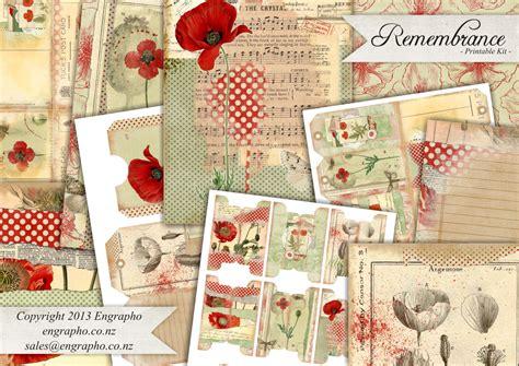 printable journal kits scrapbook or journal printable kit remembrance set instant