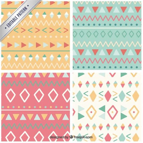 download pattern cute cute ethnic patterns vector free download