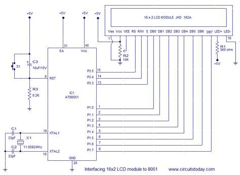 16x2 lcd pin diagram lcd circuit page 4 light laser led circuits next gr