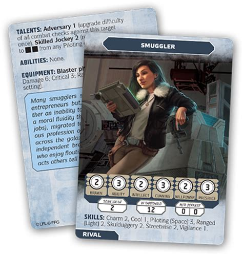 Wars Ffg Npc Card Template by Flight Manage Your Npcs With Three New