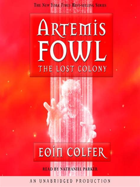 Eoin Colfer Artemis Fowl And The Lost Colony books artemis fowl the lost colony