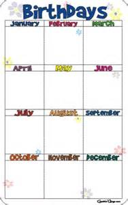 Printable Birthday Chart Template by Printable Birthday Charts New Calendar Template Site