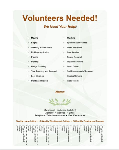 volunteers needed flyer template volunteer flyer template free word templates