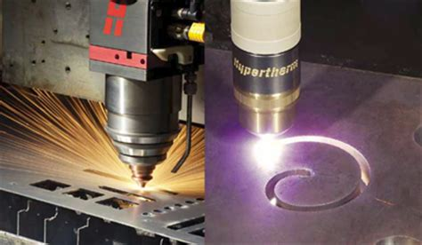 hd plasma cutting vs laser cutting one laser one plasma torch one cutting table