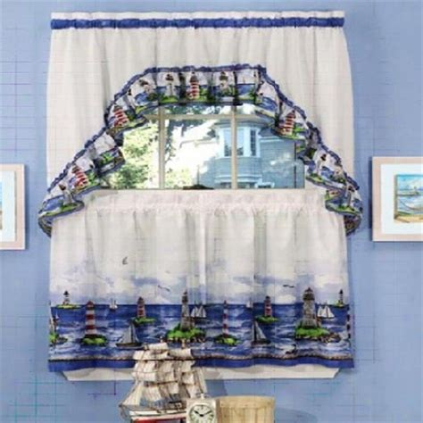 Nautical Kitchen Curtains Lighthouse Kitchen Curtains Kitchen Design Photos