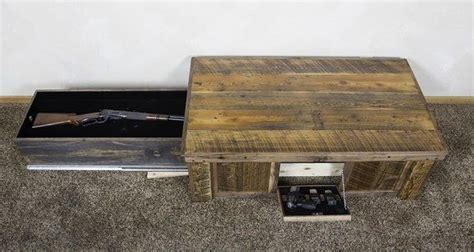 coffee table gun cabinet gun storage cabinet plans gun cabinet