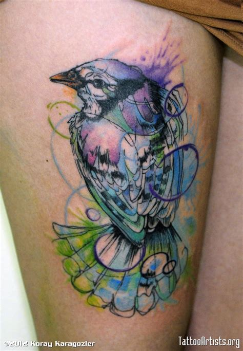 water paint tattoos watercolor bird artists org