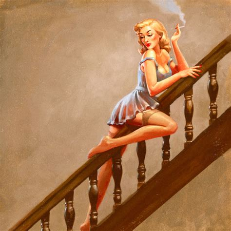 Sliding A Banister by Sexily Sliding On The Banister Pin Up By Sam Hadley Pin