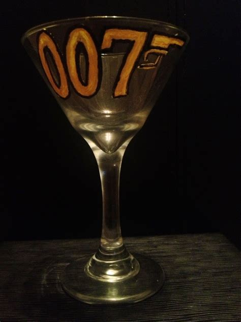 bond martini bond bond martini glass quot 007 quot painted glasses