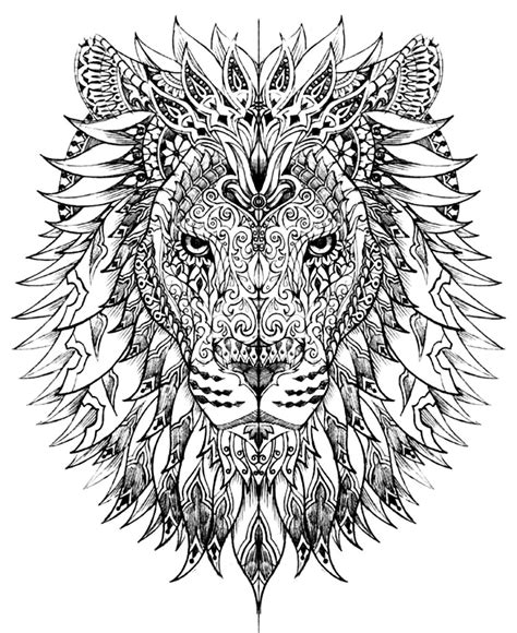 free coloring pages of lion head templates