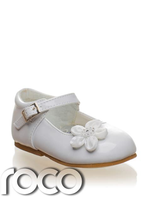 flower toddler shoes baby white shoes christening wedding flower