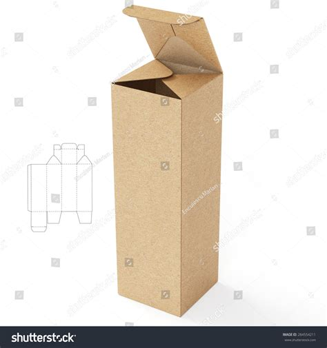 square cardboard box stock images image 29889354 square base cardboard tube box with die cut template