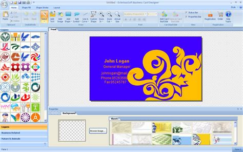 free software to make business cards business card layout software free image collections