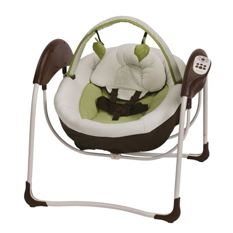 graco swing green com graco glider petite lx gliding swing go