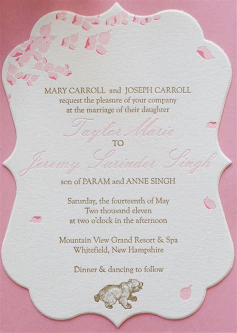 invitation wording wedding reception same venue wedding invitation wording wedding invitation wording ceremony and reception at same venue