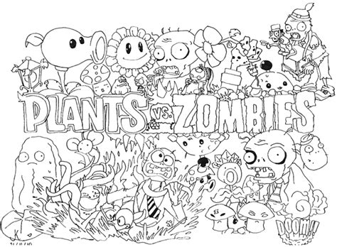 plants vs zombies coloring pages best gift ideas blog