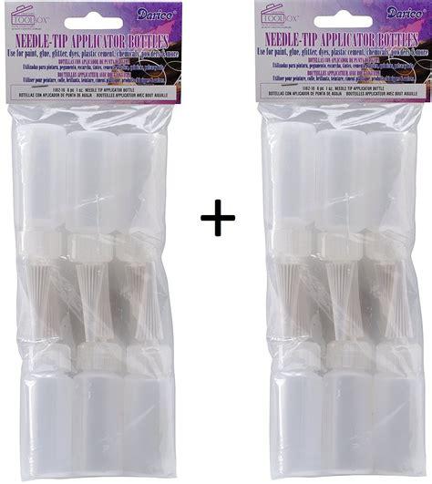 Premium Needle Bugpin 12 Disposable Tip Mix Pack soft squeeze jagua ink craft applicator dispensing syringe bottles for glue