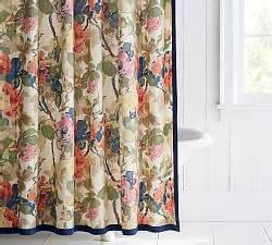 Fabric shower curtains amp shower curtain hooks pottery barn
